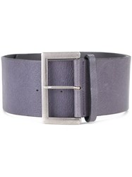 Mikio Sakabe Wide Buckle Belt Pink And Purple