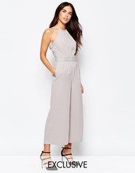 Warehouse Sash Detail Jumpsuit Grey