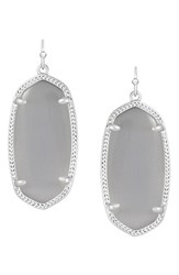Women's Kendra Scott 'Elle' Drop Earrings Rhodium Slate Cats Eye