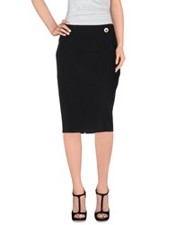 Versace Collection Skirts Knee Length Skirts Women Black