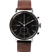 Tsovet Jpt Cc38 Stainless Steel And Leather Watch Brown
