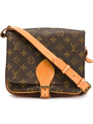 Louis Vuitton Vintage 'Cartouchiere Mm' Shoulder Bag Brown