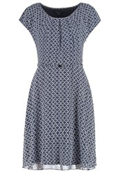 Comma Summer Dress Blue Dark Blue