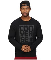 Converse Rubber Graphic Crew Black Men's Clothing