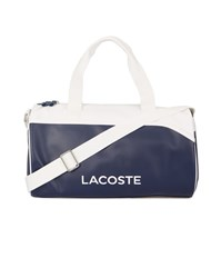 Lacoste Navy And White Messenger Bag Blue