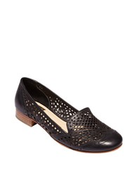 Dolce Vita Ipis Leather Cutout Loafers Black