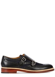 Oliver Sweeney Brantham Monk Strap Leather Brogues Navy