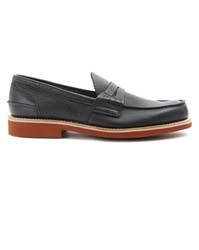 Churchs Pembrey Blue Grained Leather Loafers