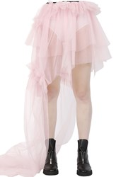 Rolling Acid Asymmetric Layered Tulle Skirt