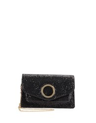 Halston Shimmer Dusted Crossbody Black