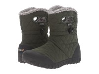 Bogs B Moc Quilted Puff Dark Green Women's Waterproof Boots