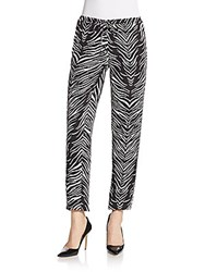 Haute Hippie Beaded Silk Jogger Pants Black Swan