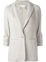 Michael Michael Kors Sleeve Detailing Blazer Nude And Neutrals