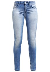 Replay Rose Slim Fit Jeans Soft Mid Blue Used Blue Denim