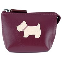 Radley Heritage Dog Small Leather Coin Purse Red