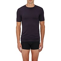 Zimmerli Men's Jersey Crewneck T Shirt Blue