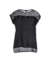 120 Lino Shirts Blouses Women Black