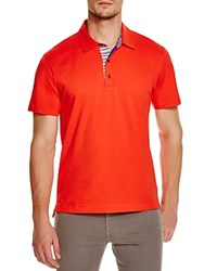 Robert Graham Stripe Placket Slim Fit Polo Shirt 100 Bloomingdale's Exclusive Red