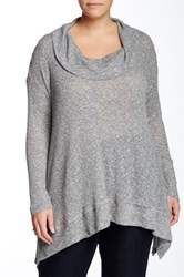 Halo Cowl Neck Sweater Plus Size Gray
