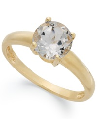 Victoria Townsend 18K Gold Over Sterling Silver Ring White Topaz April Birthstone Ring 1 1 2 Ct. T.W.
