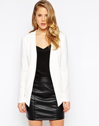 Bcbgeneration Blazer In Lightweight Drape White