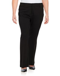 Lord And Taylor Plus Ponte Bootcut Pants Black