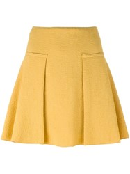 See By Chloe Creased Texture Skirt Yellow And Orange