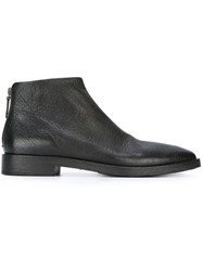Marsell Zip Heel Ankle Boots Black