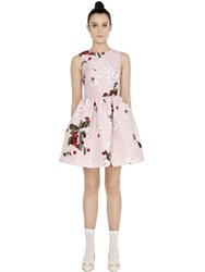 Red Valentino Fruit And Floral Print Techno Faille Dress