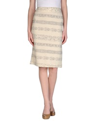 Andrea Incontri 3 4 Length Skirts Ivory