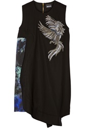 Just Cavalli Embellished Wool Dress Black