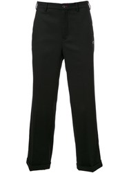 Loveless Straight Leg Cropped Trousers Black
