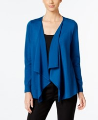 Thalia Sodi Lace Up Back Flyaway Cardigan Only At Macy's Nocturnal Blue