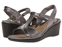 Hush Puppies Natasha Russo Dark Pewter Leather Women's Wedge Shoes