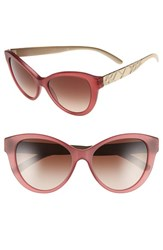 Women's Burberry 56Mm Cat Eye Sunglasses Matte Red