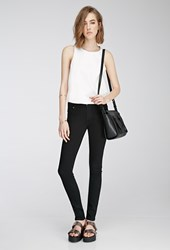 Forever 21 Clean Wash Skinny Jeans Black