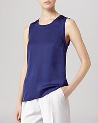 Reiss Top Constance Sleeveless Blue Passion