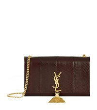 Saint Laurent Monogramme Tassel Shoulder Bag Female Red