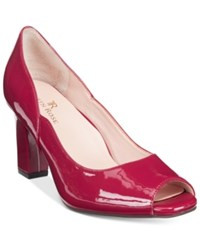 Taryn Rose Tr Francis Block Heel Pumps Women's Shoes Beet Red
