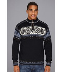 Dale Of Norway Blyfjell C Navy China Blue Off White Copper Men's Sweater Black