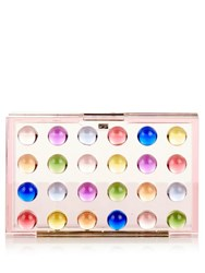 Mary Katrantzou Multicoloured Polka Dots Acrylic Box Clutch White Multi