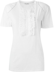 Each X Other Ruffled Detail T Shirt White