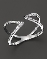 Bloomingdale's Diamond Geometric Open Ring In 14K White Gold .20 Ct. T.W.