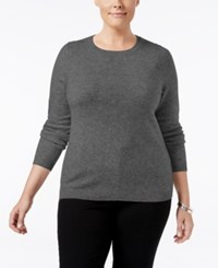Charter Club Plus Size Cashmere Crewneck Sweater Only At Macy's Heather Cinder