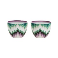Missoni Home Zig Zag Small Fruit Bowl Set Of 2