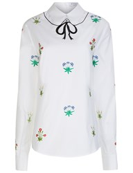 Vivetta White Floral Embroidered Blouse