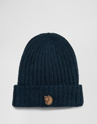 Fjall Raven Fjallraven Byron Wool Beanie In Navy Navy