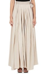 Lanvin Women's Pleated Long Bridal Skirt Ivory Size 8 Us