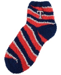 For Bare Feet Texas Rangers Sleep Soft Candy Striped Socks Red Blue