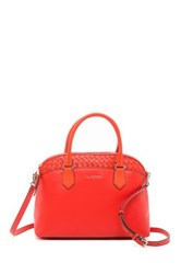 Cole Haan Luella Small Leather Satchel Red